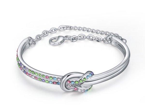 rhodiniert Armband<br> mit Kristallen<br>angebracht Sw