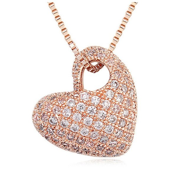 Rose gold plated<br> pendant 18 carats<br>mounted
