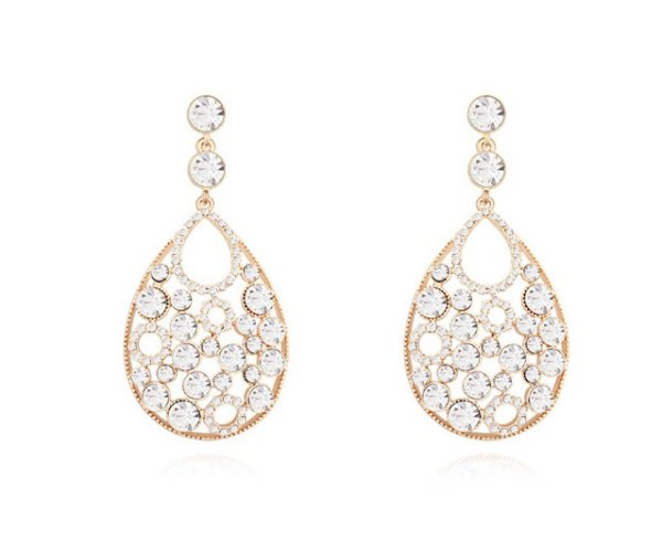 Pink gold plated<br>earrings 18K mo