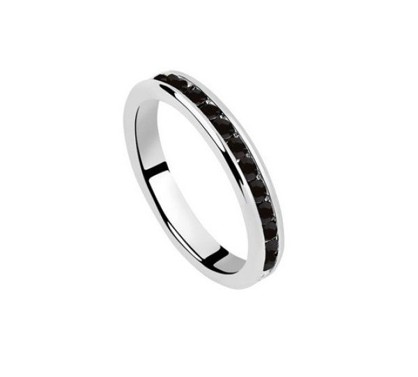rhodium plated<br> ring mounted<br>Swarovski crystals