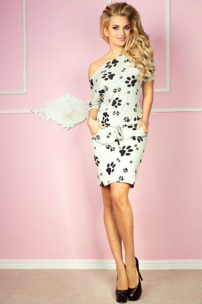 Sport jurk met<br> korte mouwen<br>voeten-grijs +