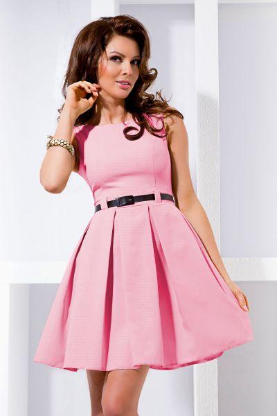DRESS pleat -<br>pastel pink 6-5