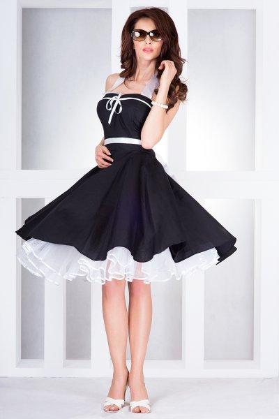 Rockabilly Pin Up<br>Kleid schwarz - 30-1