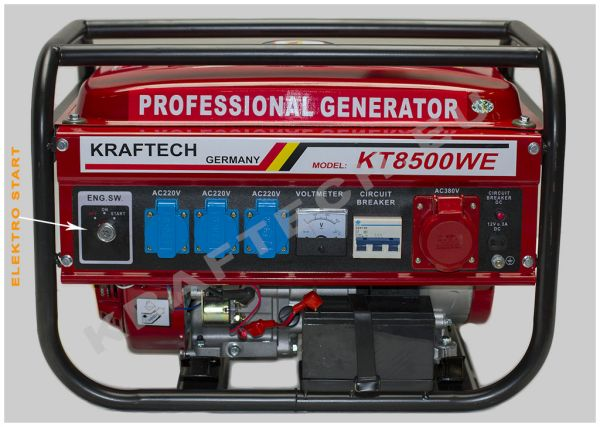 Power generators<br> KT-8500W with<br>ESTART - 8500 Watt