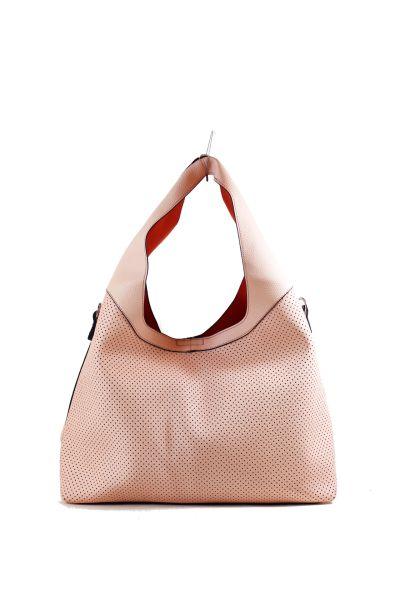 Shoulder bag<br>-perforated-15A-629<br>Pink Surface